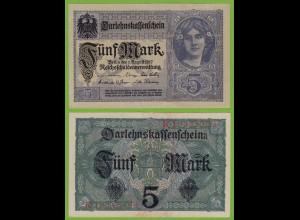 Darlehnskassenschein 5 MARK 1917 8-stellig Ros. 54c UNC (19533