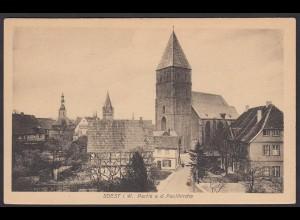 AK Soest Strassenansicht und Paulikirche (16969