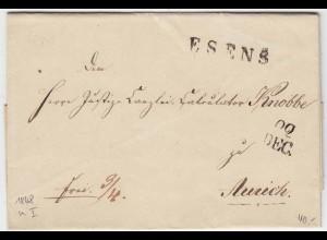 Hannover - Vorphila ESENS L1 aus Neuharlingersiel nach Aurich 1848 (12147
