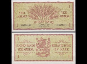Finnland - Finland 1 Markka Banknote 1963 Pick 98 UNC (11938