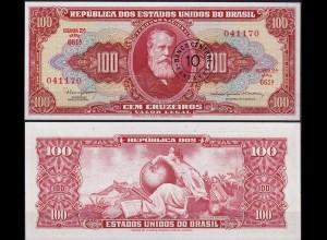 BRASILIEN - BRAZIL 10 Centavos auf 100 (1966-67) UNC Pick 185a (11831