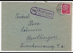 Marschalkenzimmern über Sulz Neckar Landpost nach Reutlingen 1956 (10852
