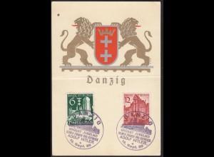 Propaganda-Karte 1939 Danzig Grüsst Jubelnd seinen Führer SST 19.9.1939 (13407