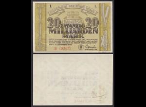 Rheinland - Stadt Wald Solingen 20 Milliarden Mark 1923 gutes XF (19603