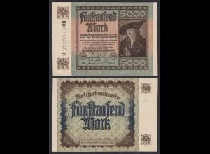 Reichsbanknote - 5000 Mark 1922 Ros 80c Pick 81 fast aUNC Starnote (19629
