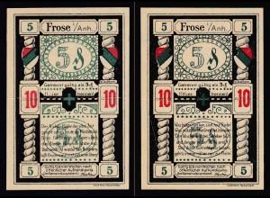 Sachsen-Anhalt - Frohse 10 Pfennig (geteilt 2 x 5 Pfg.) Notgeld ND (19636