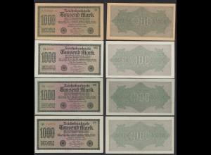 4 Stück Reichsbanknoten - 1000 Mark 1923 Ros. 75 Pick 76 XF-UNC (19650