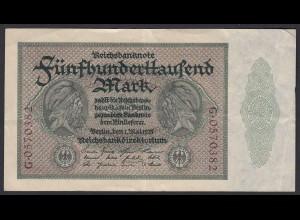 Reichsbanknote - 500000 500.000 Mark 1923 Ros. 87c gutes VF Pick 88b (19658