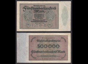 Reichsbanknote - 500000 500.000 Mark 1923 Ros. 87b F/VF Pick 88a (19659