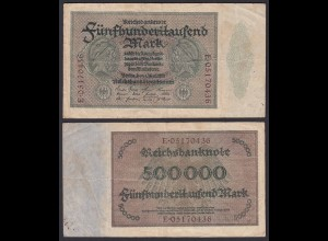 Reichsbanknote - 500000 500.000 Mark 1923 Ros. 87b F Pick 88a (19660