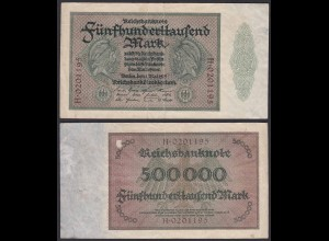 Reichsbanknote - 500000 500.000 Mark 1923 Ros. 87a F Pick 88a (19661