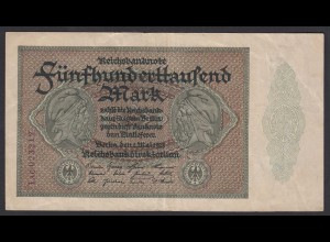 Reichsbanknote - 500000 500.000 Mark 1923 Ros. 87f - Pick 88b VF (19657