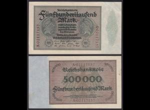 Reichsbanknote - 500000 500.000 Mark 1923 Ros. 87b gutes Pick 88a VF (19664