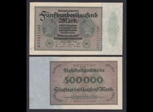 Reichsbanknote - 500000 500.000 Mark 1923 Ros. 87b gutes VF Pick 88a (19665
