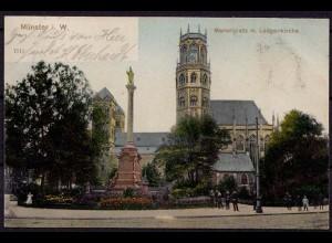 AK Münster Westfalen Ludgerikirche Mariensäule 1905 nach Werden (6850