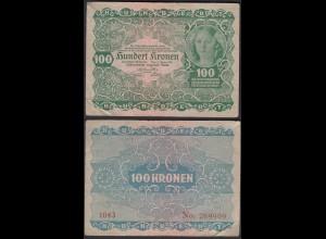 Österreich - Austria 100 Kronen 1922 Pick 77 F (4) (19819