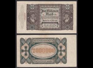 Reichsbanknote - 2 Millionen Mark 1923 Ros. 89a VF (19689