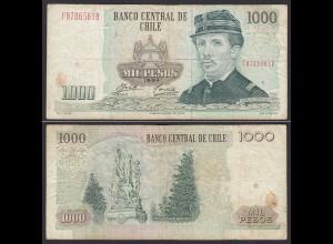 CHILE - 1000 Pesos Banknote 1994 Pick 154e F Prefix FB Block 5 (19698