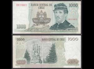 CHILE - 1000 Pesos Banknote 1995 Pick 154f VF Prefix EB Block 12 (19699