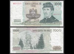 CHILE - 1000 Pesos Banknote 2000 Pick 154f F/VF Prefix NB Block 1 (19703