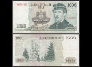 CHILE - 1000 Pesos Banknote 2003 Pick 154f VF Prefix NA Block 5 (19705