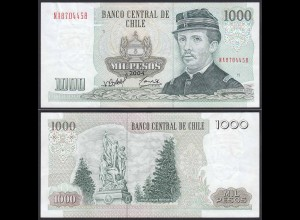 CHILE - 1000 Pesos Banknote 2004 Pick 154f VF Prefix NA Block 11 (19706