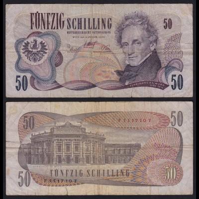 Österreich - Austria 50 Schilling Banknote 1970 F (4) Pick 143 (19732