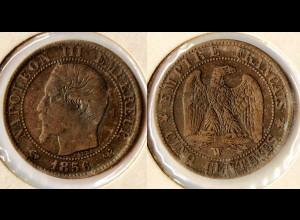 Frankreich France 5 Centimes 1856 W - Napoleon III. (r783