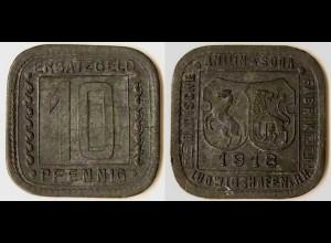 Ludwigshafen 10 Pfg.1918 Badische ANILIN u. SODA FABRIK BASF Notgeld
