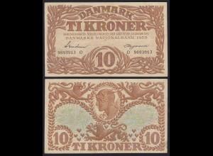 DÄNEMARK - DENMARK 10 KRONER 1939 VF Pick 31f (19860