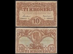 DÄNEMARK - DENMARK 10 KRONER 1939 F/VF Pick 31f (19865