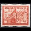 3.Reich DR 1939 Michel Nr. 706 ** postfrisch 8 Pfennig Mi. 5 € (19908