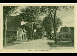 AK Leezen Hamburger Landstraße Segeberg Oldesloe gelaufen 1930 (2091