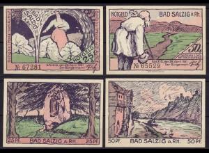 Rheinland-Pfalz - Bad Salzig - 25 u. 50 Pfennig Notgeld 1921 (11444