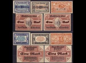 Rheinland - Elberfeld 5 Stück Notgeld (ca408
