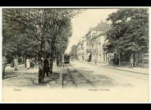 AK Essen Kettwiger Chaussee Strassenbahn 1906 (2571