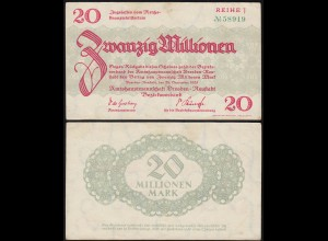 Sachsen - 20 Million Mark Banknotes 24-9-1923 Dresden-Neustadt Notgeld (14142