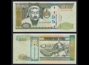 Mongolei - Mongolia 500 Tugrik 2007 Banknote UNC Pick 66 (19974