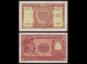 Italien - Italy 100 Lire Banknote 1951 VF Pick 92 (19976