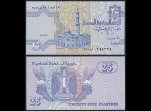 Ägypten - Egypt 25 Piaster Banknote 2007 Pick 57 UNC (19982