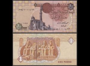 Ägypten - Egypt 1 Pound Banknote 2002 Pick 50 UNC (19983