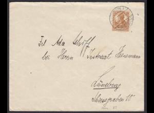 DR Mi. 100a Einzelfrankatur 1916 Cüstrin Altstadt nach Lünebeurg (20026