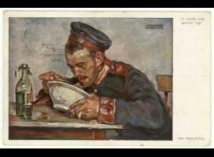 AK Kriegsmalerei Hiasl Maler Erding 103 s´liabste vom ganzen Tag (2923