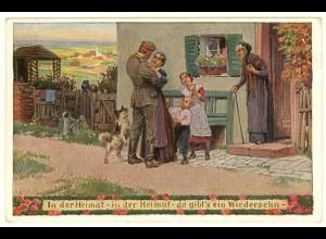 AK Kunstkarte Paul Hey UNSERE FELDGRAUEN 1915 Soldaten Heimat (2947