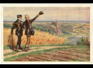 AK Kunstkarte Paul Hey 1916 Wohlauf, die Luft geht frisch und rein (2951