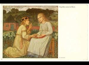 AK Kunstkarte M.Schiestl Gegrüßest seist du Maria 1932 (2952