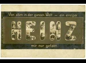AK Namenskarte HEINZ ein einz´ger mir nur gefällt (2956