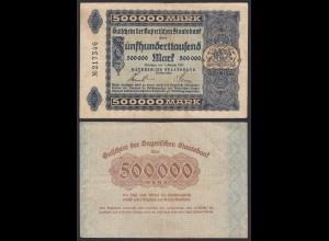500000 500.000 Mark Gaperische BAYERISCHE Staatsbank 1923 VF- RAR (20135