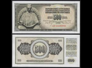 JUGOSLAWIEN - YUGOSLAVIA 500 Dinara 1970 UNC Pick 84b (20137
