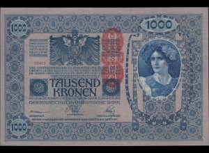 Österreich - Austria 1000 Kronen Banknote 1919 (1902) Pick 59 XF+ (2+) (20144
